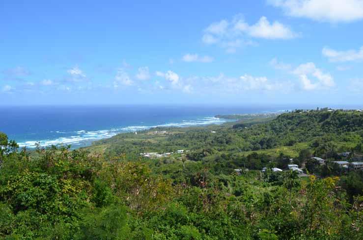 East Coast of Barbados showing the Atlantic Ocean