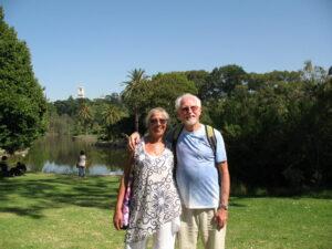 Lynda and Steve at the Botanical Gardens
