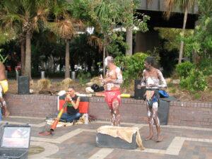 Aboriginal buskers at Circular Key
