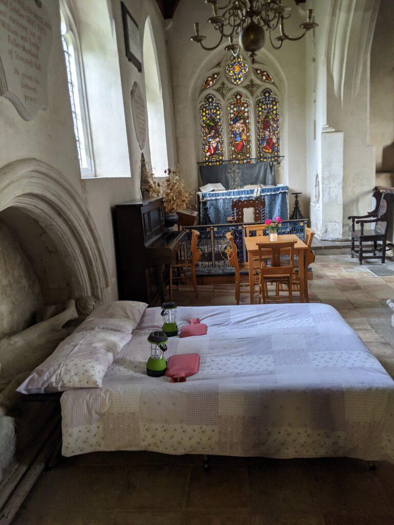 Champing (camping in church)